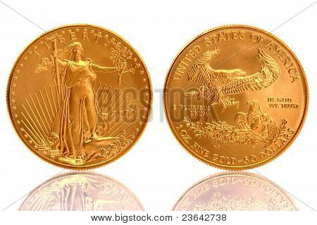 American Gold Eagle 1 Unze fein Goldmünze