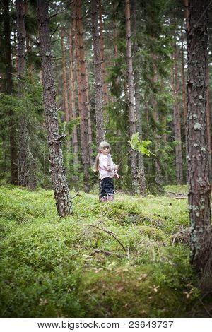Girl In Forrest