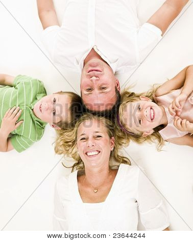 Familie von oben