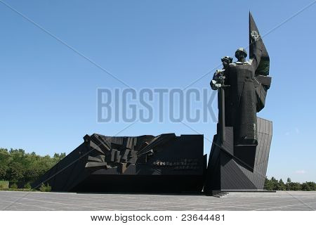 Monument In Donetsk / Ukraine