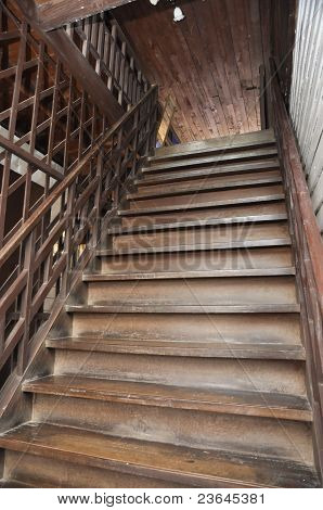 Brown Old Style Wood Ladder Home