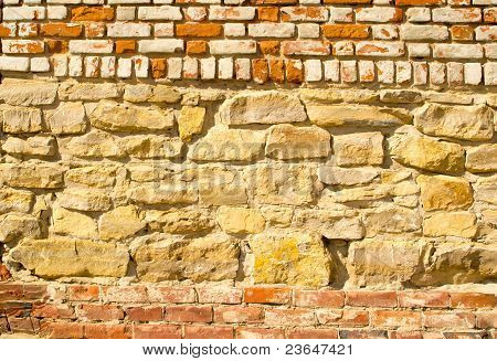 Stone and brick wall