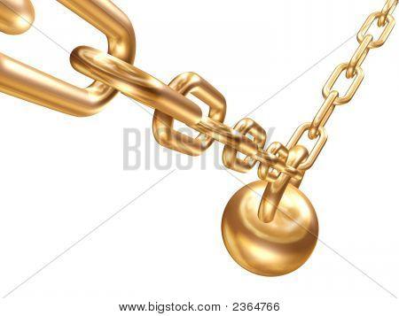 Circuito de ouro, com uma carga
