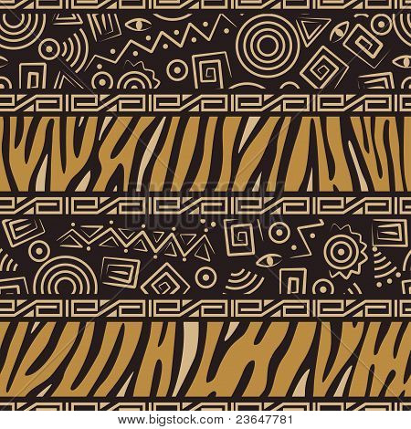 Stylish  African seamless pattern