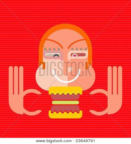 Glutton Eats A Sandwich