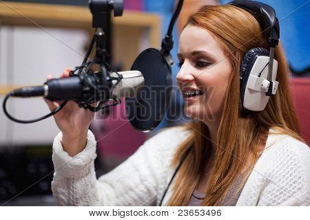 Happy Radio Host Speaking