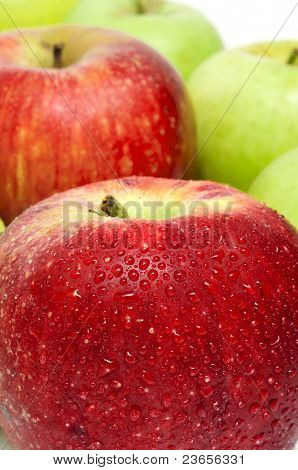 closeup of some delicious and fresh apples