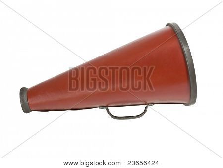 Vintage megaphone from the 1920's isolated on white.