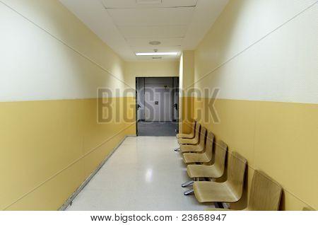Krankenhaus-Flur-Bild aus Spanien, Europa.