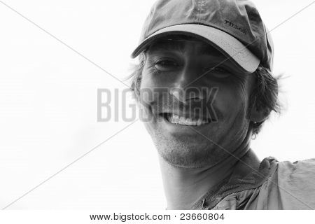 BAILEY ISLAND, MAINE- AUG.14: Actor Lee Pace greets friends at neighborhood lobster bake
