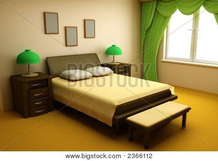 Gemütliches Schlafzimmer Interior 3D