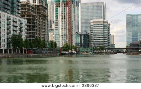 Modern Waterside City Landscape