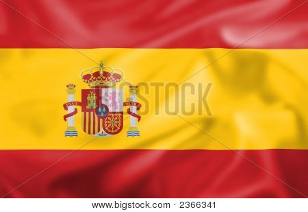 Silk Effect Spanish Flag