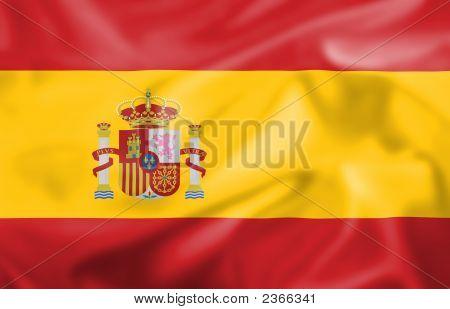 Silk Effect Spanish Flag