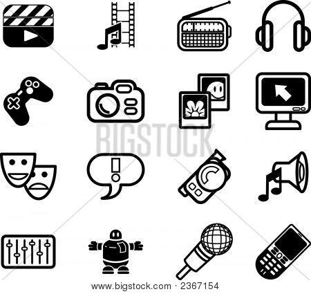 Media Icon Series Set