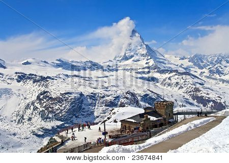 Matterhorn Peak, Located At Switzerland