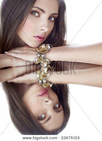 beautiful woman with bracelet
