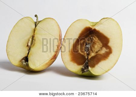 Devided apples