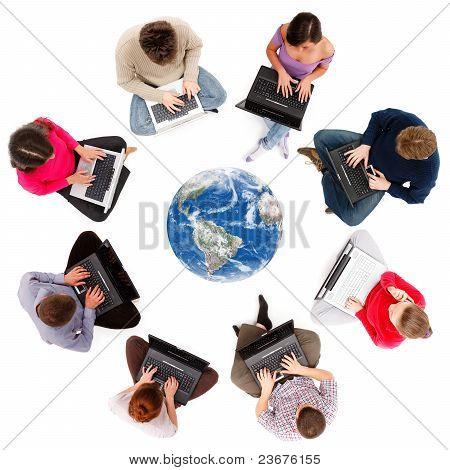 Miembros de la red social vistos desde arriba
