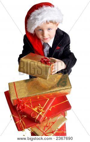 Nehmen Sie Ihr Geschenk.
