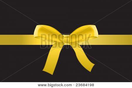 Golden bow. Raster version.