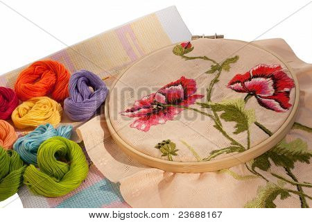 The embroideries