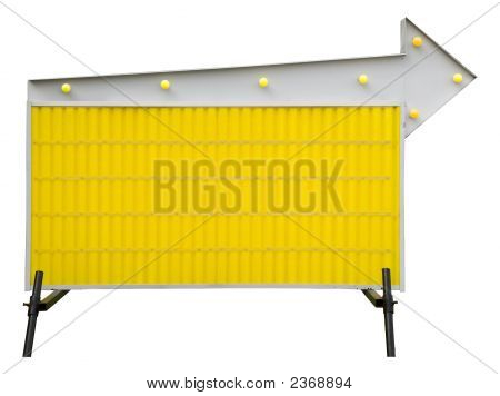 Yellow Blank Informational Road Sign