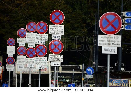 A Big Number Of Interdiction Signs