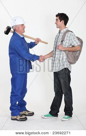 Apprentice builder with mentor