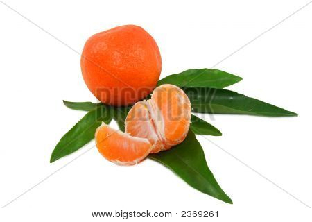 Juicy Tangerine With Clipping Path