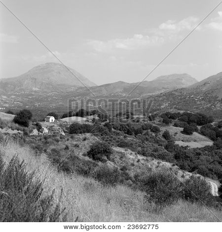 Crete Landscape With Chapel