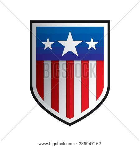 Isolated American Shield Shape Logo