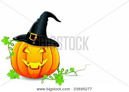 Halloween Pumpkin with Hat