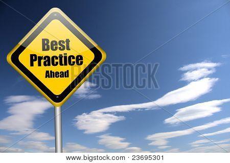 beste Praxis-Zeichen