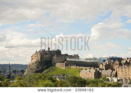 Edinburgh Castle, Scotland, From The South East.