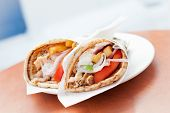 picture of gyro  - Typical street food in Greece  - JPG