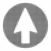 Rounded Arrow Halftone Vector Icon. Illustration Style Is Dotted Iconic Rounded Arrow Icon Symbol On poster
