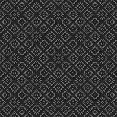 Vector Seamless Pattern. Regularly Repeating Geometric Tiles Of Rhombuses With Symmetric Geometric O poster