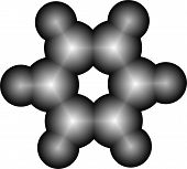 Molecule of benzene
