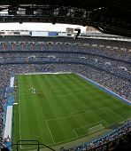 Santiago Bernabeu, soccer stadium full of people
