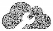 Cloud Wrench Tools Composition Of Dots In Different Sizes And Color Hues. Round Dots Are Grouped Int poster
