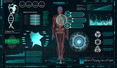 Head Up Display (hud) Ui For Medical App, Futuristic Medical Hud Interface, Virtual Graphic Touch Ui poster