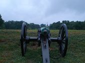 Rear Of An American Civil War Cannon, On Display At The Vicksburg National Miltiary Park poster