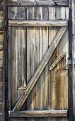 Wooden Door Of A Seaside Hut