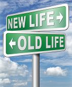 new life versus old life fresh beginning or start again last chance for you by remake or makeover 3D poster