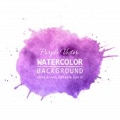 Purple Paint Splatter Background Vector. Watercolor Splatter Vector Background For Text, Banner Labe poster