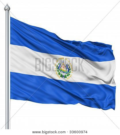 Waving flag of El Salvador