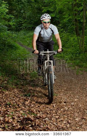 mountainbiker on a singletrail