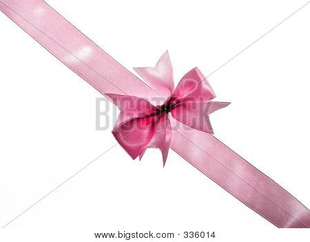 Pink Bow And Ribbon