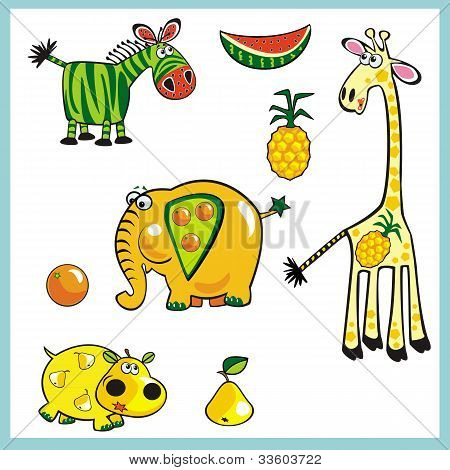Exotica Fruits Animals.eps